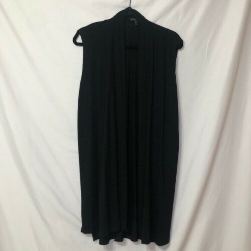 Eileen Fisher Black Sleeveless Cardigan XS