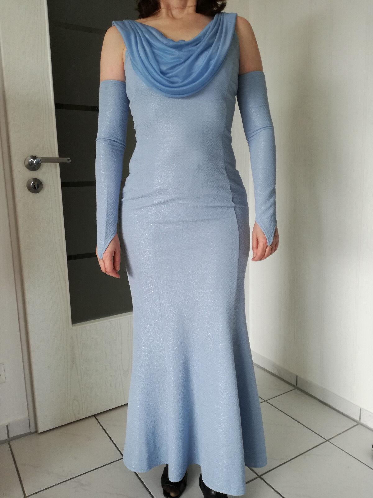 Schönes Abendkleid Coctailkleid Abi Kleid Gr. 36 Blau TOP Zuste Glitzerkleid