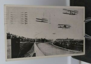 INDIANAPOLIS-IN-POSTCARD-FIRST-AVIATION-MEET-SPEEDWAY-1910-RACETRACK-AIRPLANES
