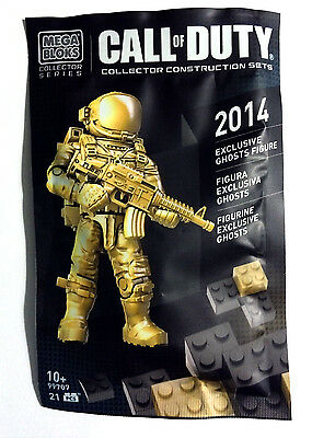 Call Of Duty Exclusive Gold Ghosts Ghost Cod Mega Bloks Sdcc Minifig 99707 Promo Ebay