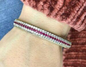 Turkish-Handmade-Jewelry-Sterling-Silver-925-Zircon-Bracelet-MKI