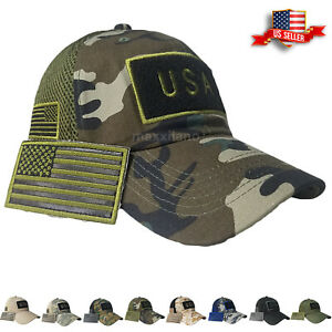 Details about Mens Baseball Cap USA American Flag Hat New Mesh Visor Military  Army Polo Style a683254e35e