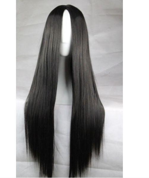 80cm Long Straight Women Hair No Bangs Multi Colors Fashion Full Wig Synthetic