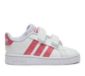 adidas grand court blanc rose
