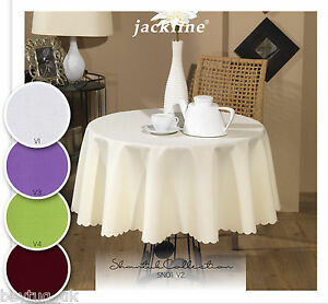 Plain-Polyester-Tablecloth-150cm-Round-60-034-Various-Colours-Everyday-Use