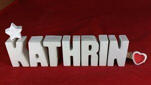 Beton-Steinguss-Buchstaben-3D-Deko-Namen-KATHRIN-als-Geschenk-verpackt