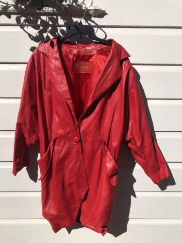 Vintage Leather Red Deerskin Jacket