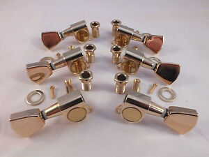 gold machine heads 3 a side tulip tuners for gibson style electric guitars ebay. Black Bedroom Furniture Sets. Home Design Ideas