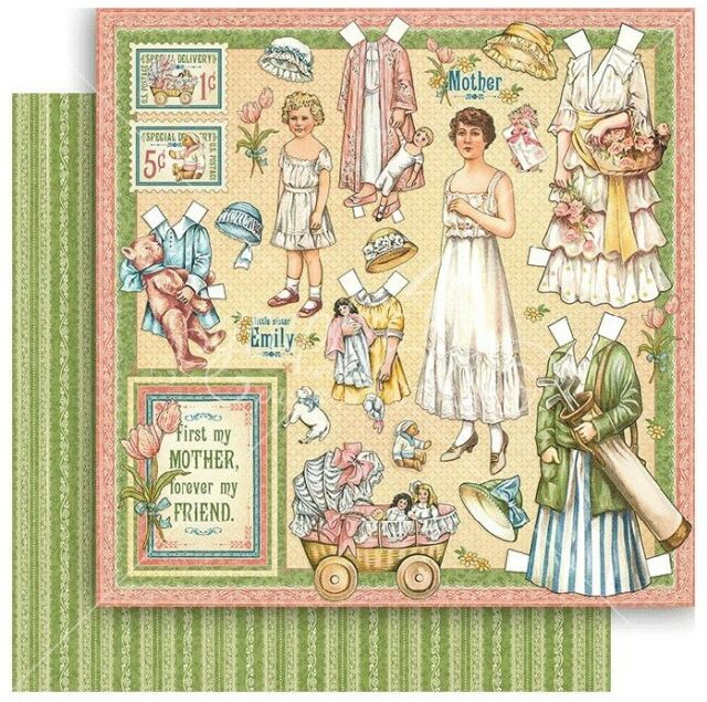 2pc Paper DOLLS Graphic45 MOTHERS /& DAUGHTERS 12x12 Dbl-Sided Scrapbooking