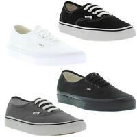 Vans U Authentic Mens Womens Canvas Skate Trainers Shoes