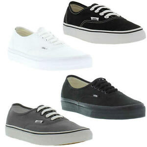 Vans Authentic Unisex Scarpe Da Ginnastica in Tela Nero 4 UK