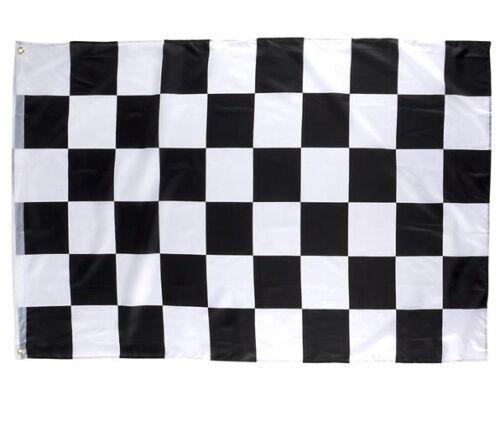 "2 CHECKERED FLAG 3 X 5 FEET 36/"" X 60/"" NASCAR RACING BLACK AND WHITE FLAGS BANNER"