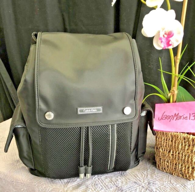 744f6abab60 Calvin Klein Athleisure Medium Backpack Black Nylon for sale online ...