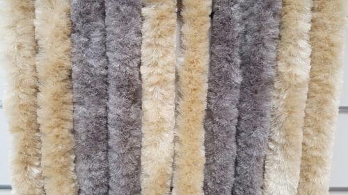 Flauschvorhang marron//beige Rideau Moustiquaire Rideau chaleur protection