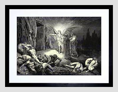 DORE INFERNO CANTO 12 DANTE OLD MASTER FRAMED ART PRINT MOUNT B12X300