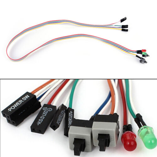 High quality PC case red green LED lamp ATX power supply reset HDD switch l JH
