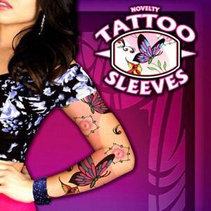 2 X MENS NOVELTY TATTOO SLEEVES FANCY DRESS FULL ARM SLEEVE TATTOOS