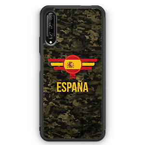 Espana-espana-camuflaje-con-letras-cheers-funda-de-silicona-para-Huawei-p-smart-pro