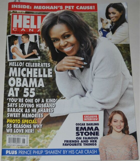 Hello Canada Magazine No 645 February 4 2019 Michelle Obama at 55 Emma Stone