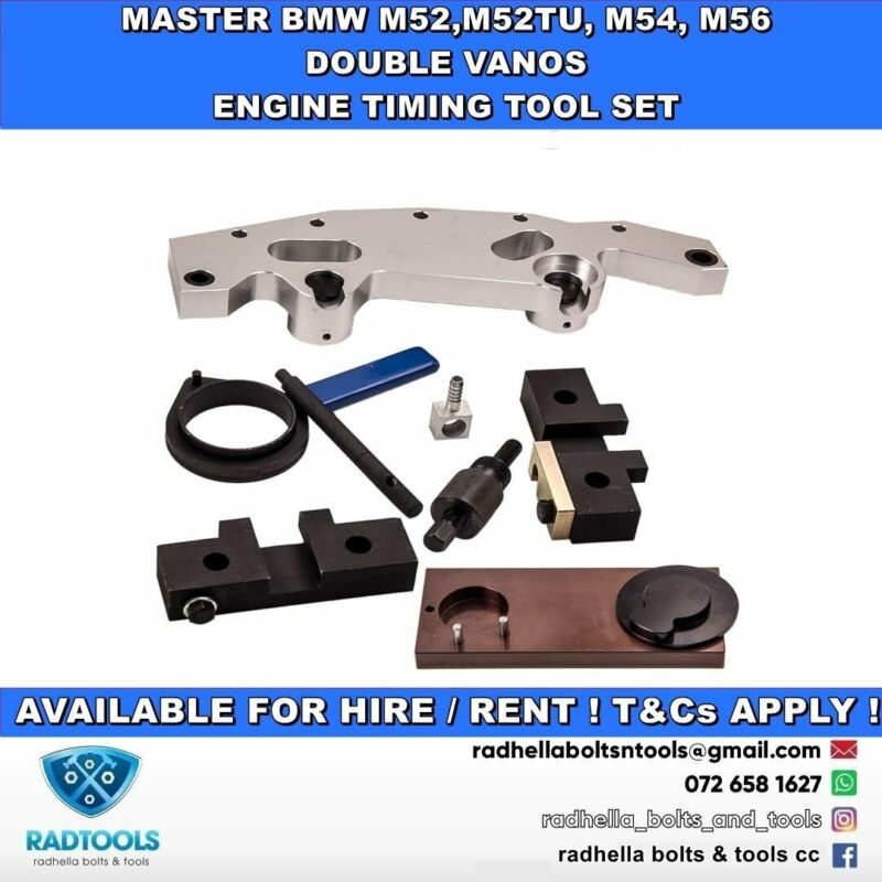 BMW M54/56 VANOS & CAMSHAFT MASTER ENGINE TIMING TOOL FOR HIRE !!!