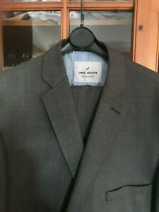 "NEW DANIEL HECHTER GREY SUIT JACKET 42"" CHEST TROUSERS 38"" r"