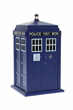 New Doctor Who Tardis Talking Cookie Jar Container Lights Sounds Dr Toy Figure