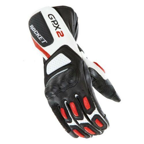 Joe Rocket GPX 2.0 Mens Leather Gloves Black//Red//White