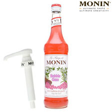 MONIN Coffee Syrups 70cl Glass BUBBLEGUM Syrup & Pump Set - USED BY COSTA COFFEE