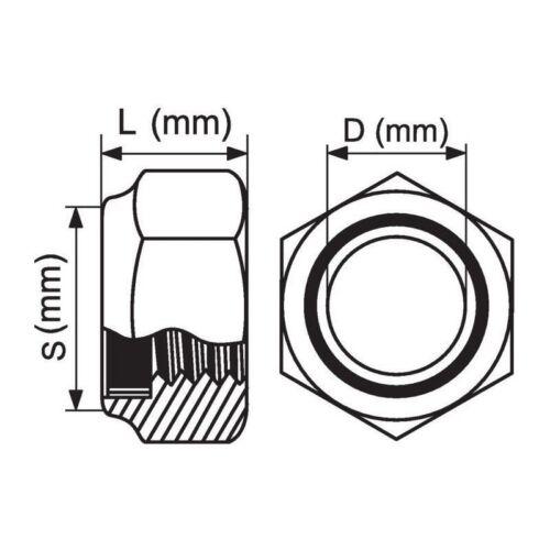 ÉCROU HEXAGONAL INDESSERRABLE INOX Vendu au détail Boulonnerie Inox Ø  8 mm