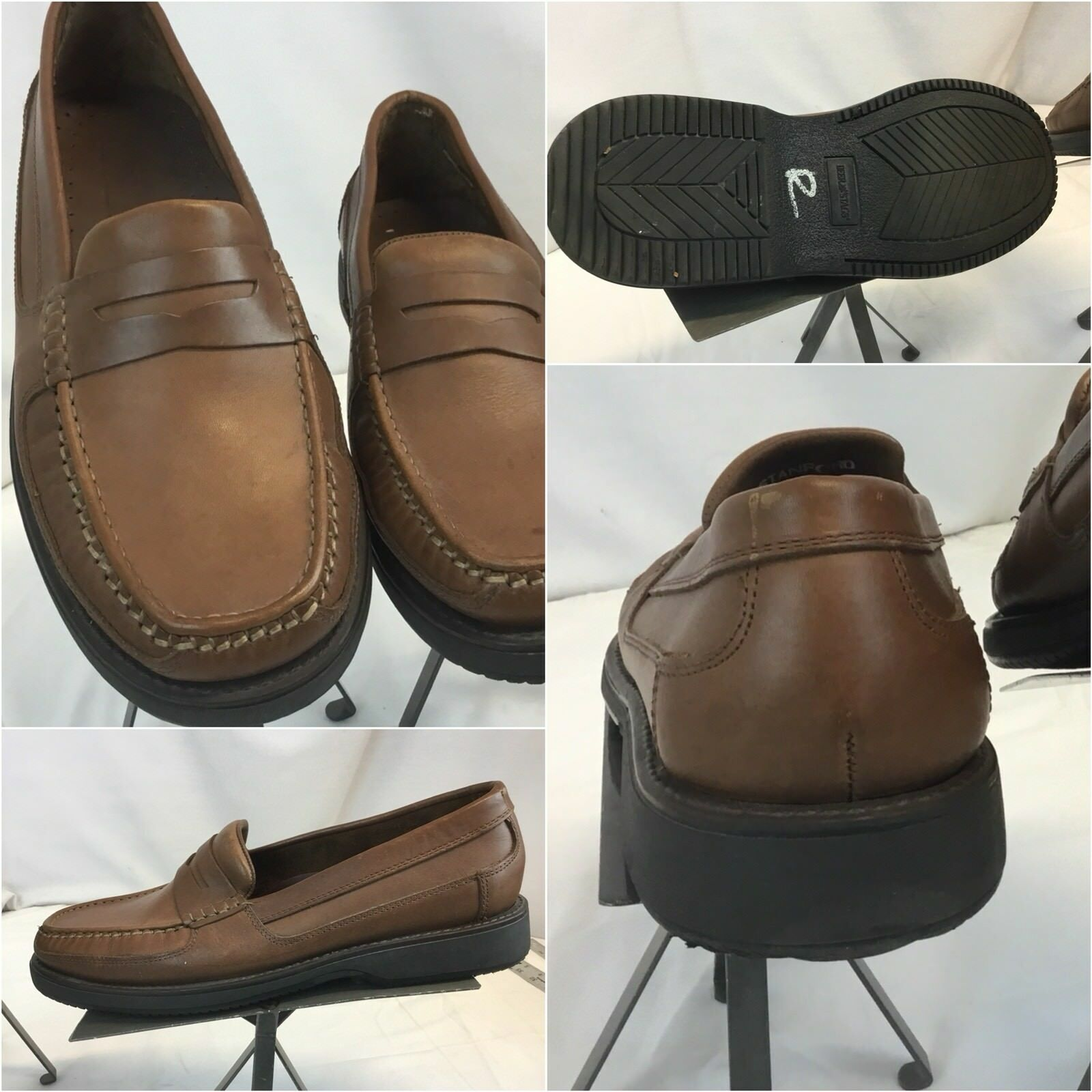 Deer Stags Loafers shoes Sz 11 W Brown Leather Stanford Worn Once YGI C8