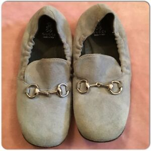 dfcd958f497 Image is loading GUCCI-Baby-Toddlers-Suede-Horsebit-Loafers-Moccasins-Shoes-