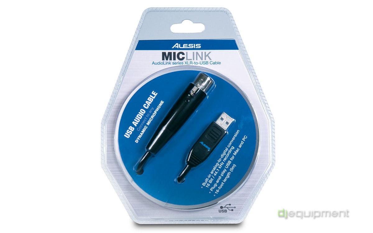 Câble Audio Alesis Mic Link Carte Son - Adaptateur XLR USB pour Microphone -