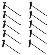 10 Pc 8 Gloss Black Grid Wall Metal Hooks Display For Use With Gridwall Panels