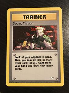 Secret-Mission-Trainer-Pokemon-Card-Gym-Heroes-Unlimited-118-132-Excellent