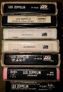 7 LED ZEPPELIN 8-TRACK TAPES (2)S/T II III IV PRESENCE THE SONG REMAINS THE SAME
