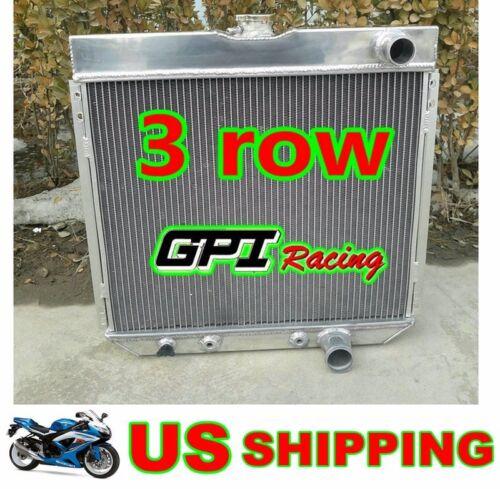 3 ROW RADIATOR /&fan FOR FORD MUSTANG,MERCURY COUGAR 289,302,351 W//O AC V8 67-69