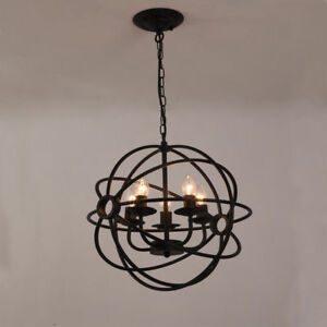 Image Is Loading Metal Orb Chandelier Globe Light Sphere Hanging Fixture