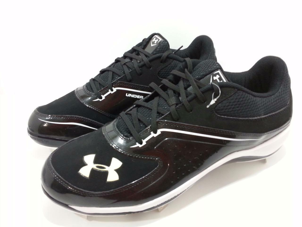 Under Armour Ignite Low ST Men's size Baseball Cleats 123809701 Black/White size Men's 14 fdaf4c