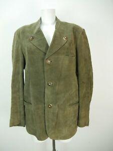 Lederjanker grün mit Hirschhornknöpfe herrliche Trachtenjacke Jacke Gr.50