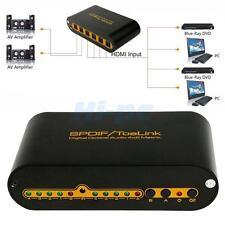 4 In 2 Out Digital Optical TosLink Audio True Matrix 4x2 Spdif Switcher/Splitter
