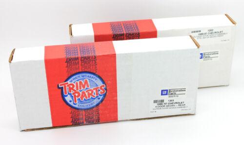 Trim Parts Outside Exterior Door Handle SET FOR 56-57 CHEVY 4-DOOR SEDANS 1204