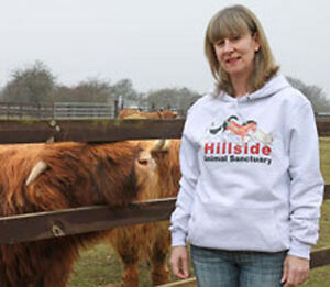 Hillside Animal Sanctuary Hooded Sweatshirt, Grey, Navy, Pink, Quality, Warm.