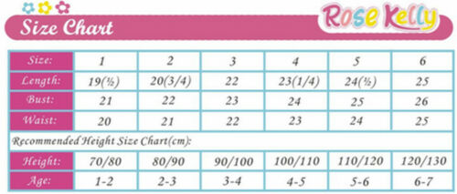 Rose Kelly beautiful girl summer dress-bestido para niñas sizes//tallas 2,3,4,5,6