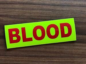 BLOOD-Badge-Large-Hook-amp-Loop-Bikes-Bloodrunner-window-sign-Motorbike-Pannier