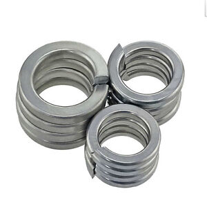 100PCS 304Stainless Steel Spring Washers M1.6 M2 M2.5 M3 M4 M5 M6 M8 M10 M12-M24