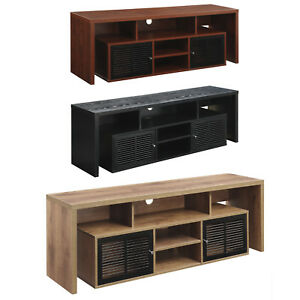 Flat Screen Tv Stand 60 Inch Entertainment Center Wood Av Media