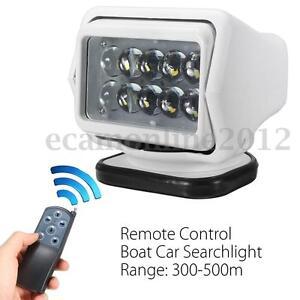LED Remote Control Marine Boat Car Searchlight Spotlight Magnetic Base