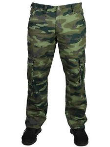 Nuevo-Kam-Para-Hombre-Casual-De-Combate-Pantalones-Cargo-Camo-camuflaje-verde-cintura-30-64