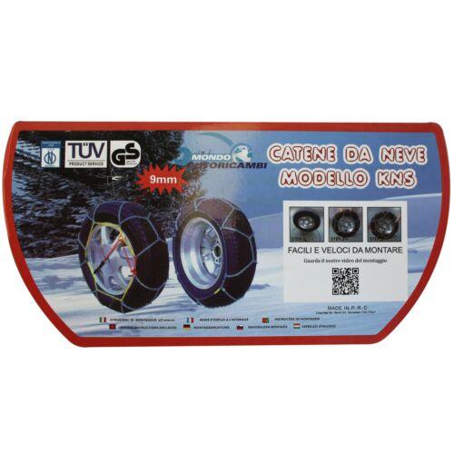 01//2011-/>12//15 4G5, C7, 4GD CATENE DA NEVE 9MM 245//45 R18 AUDI A6 Avant