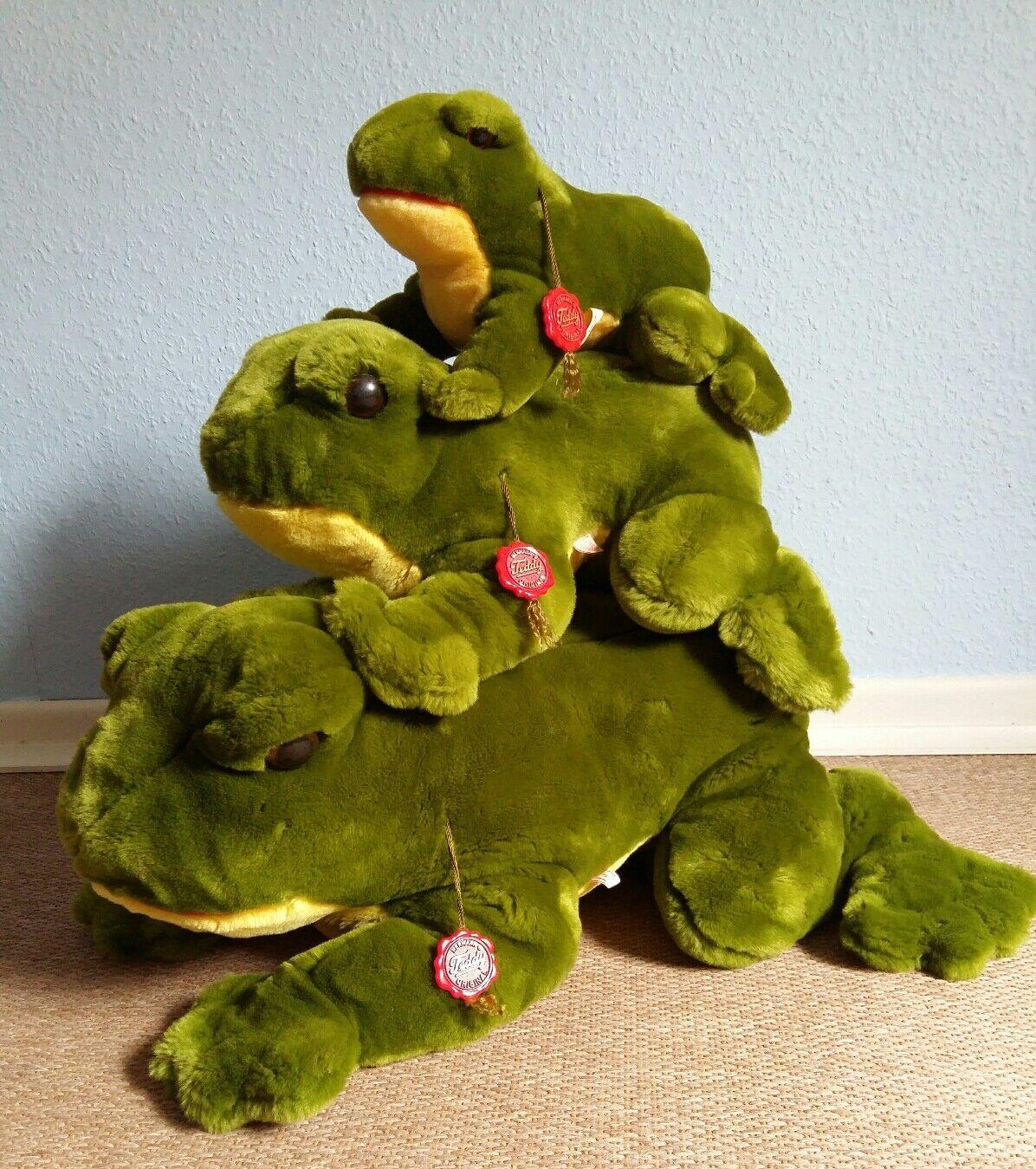 Rara  Unbespielte TEDDY HERMANN Frosch - Familie 26-55cm   3 Frösche  | Lass unsere Waren in die Welt gehen